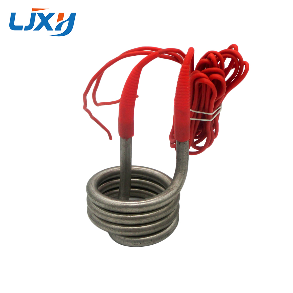 LJXH Heater for Water Distiller,2500W/3000W/4500W Heating Element for Water,220V/380V Spring Coil Heat Tube for Bucket 3kw 220v food grade sus304 electric heat tube for electric barrel coil heating element for water bucket noodle maker parts
