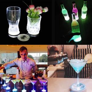 Image 4 - 1 pièces LED très brillante Flash bouteille lumière Glorifier bouteille de vin LED autocollant tasse tapis caboteur pour la décoration de barre de mariage de fête