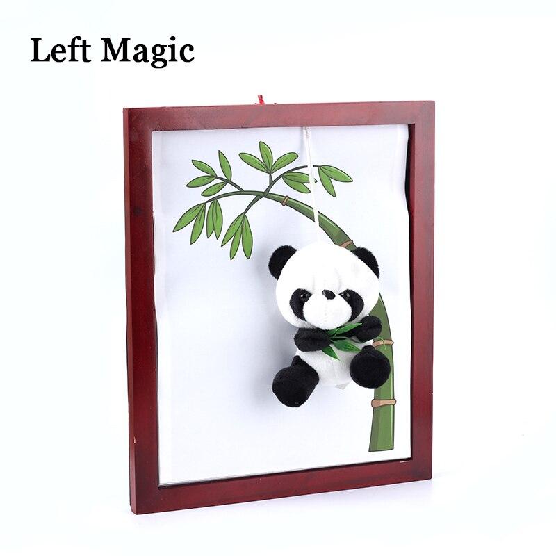 1 pièces panda cadre tour de magie panda hors conseil accessoires magiques professionnel pour magicien scène Gimmick illusion 83200