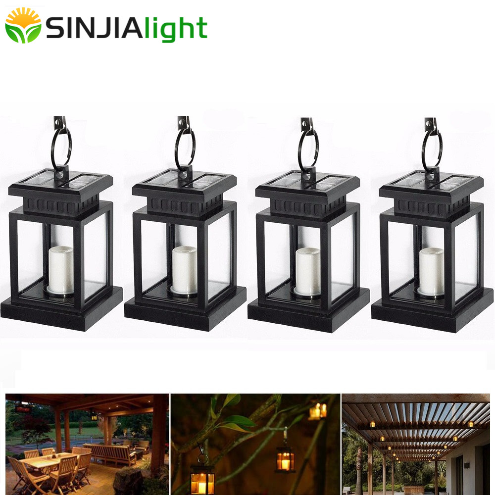 4pcs 2pcs Outdoor Candle Lantern Solar Powered Solar Lamp LED Bulb Path Gutter Garden Solar Light Umbrella Hang LED Lighting