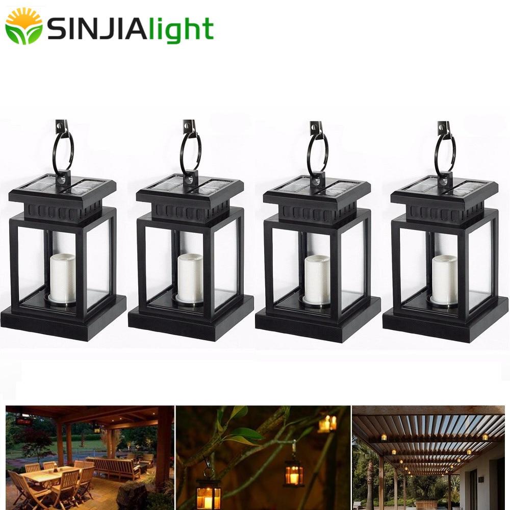 4pcs 2pcs Solar Light Outdoor Candle Lantern Solar Lamp LED Bulb Yard Path Gutter Garden Umbrella Hang Lights LED Lamp Lighting