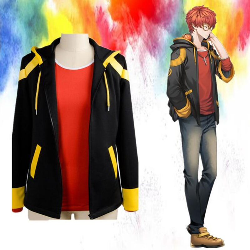 Game Mystic Messenger Hoodies Sweatshirts cosplay costume Jackets and t-shirt Top Set