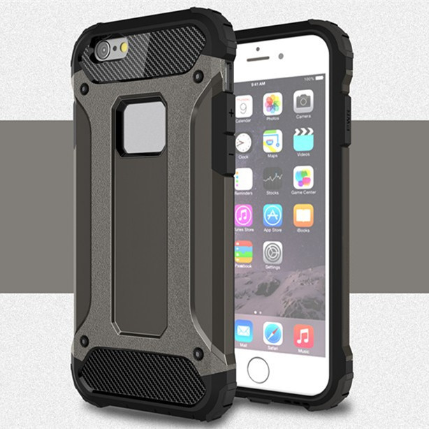 newest collection 5bd29 2e114 US $2.58 35% OFF|Strong Hybrid Tough Shockproof Armor Case Cover for iPhone  5 5S SE 6 6S 7 8 X Plus TPU Hard Back Slim Case Armour Cover-in ...