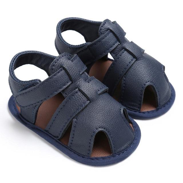 28bae329faf8 2017 New Fashion Cool Boys Soft Leather Sandals Baby Boys Girls Soft Sole  Summer Sandals Shoes erkek bebek sandalet 0-18M