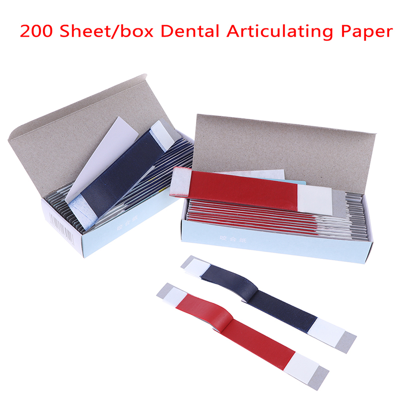 200 Sheet/Box Dental Dentista Articulating Paper Blue Strips Whitening Material Tool Dental Lab Products Oral Dentist Teeth Care(China)