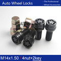 4Pcs For VW Golf Jetta Beetle Passat Wheel Bolt & 2Pcs Lock Nut M14x1.5x27.5 8D0601139F 004 8D0 601 139F 1K0 698 137A 1K0698137A
