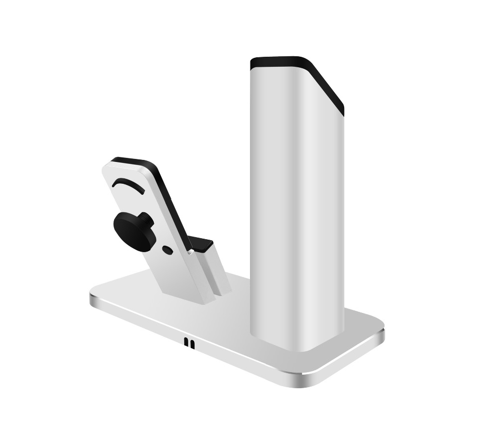 Fashion 2 in1 Charging Dock for Apple watch Aluminum Desktop Bracket Stand for iPhone se 6 / 6S / 7 plus phone holder