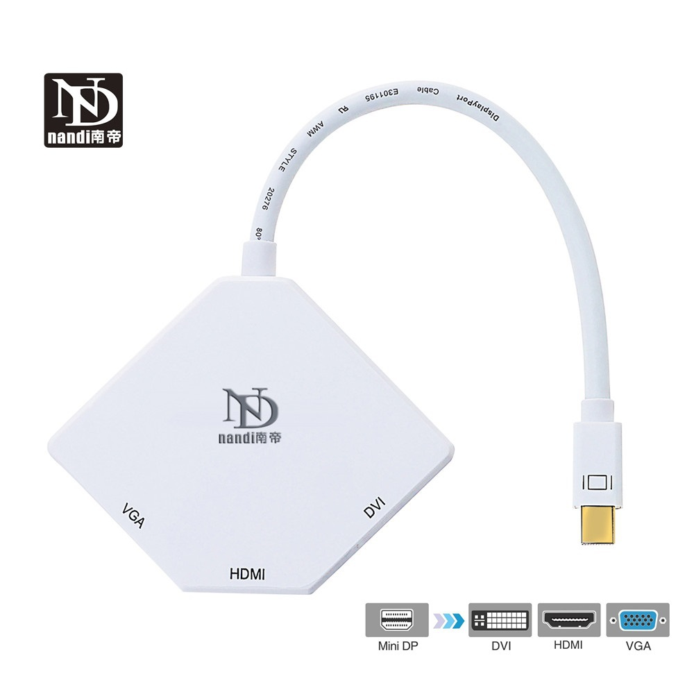 New 3 in1 Mini DisplayPort to HDMI Display Port Adapter  For  Dell XPS 15 DVI