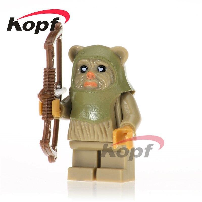Single Sale Ewok Warrior Battle of Endor Tan Tokkat Wicket Paploo 10236 Star Wars Building Blocks Bricks Toys for children PG736