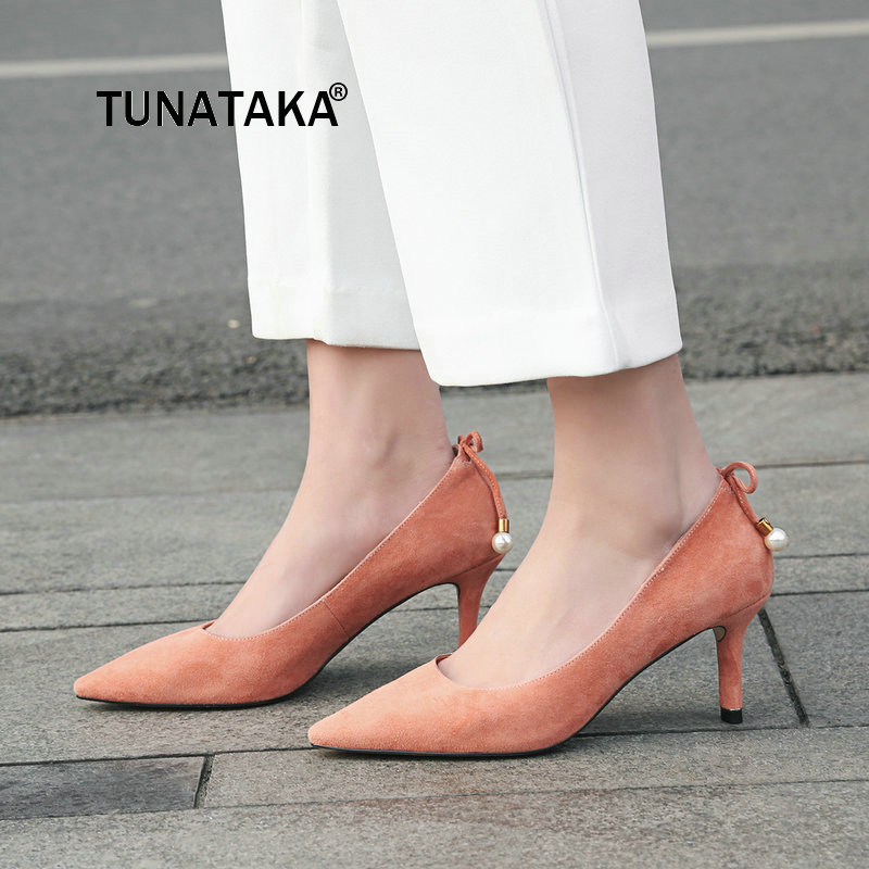New Sexy Thin High Heel Slip On Lazy Shoes Sweet Back Bow Knot Pointed Toe Dress Women Pumps Black Khaki Pink mixed print colorblock knot back halter dress
