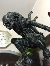 Haute Qualité 1:4 Échelle Alien Guerrier Corps Entier Grande Statue Modèle Sculpture Artisanat Refonte 58 cm hauteur