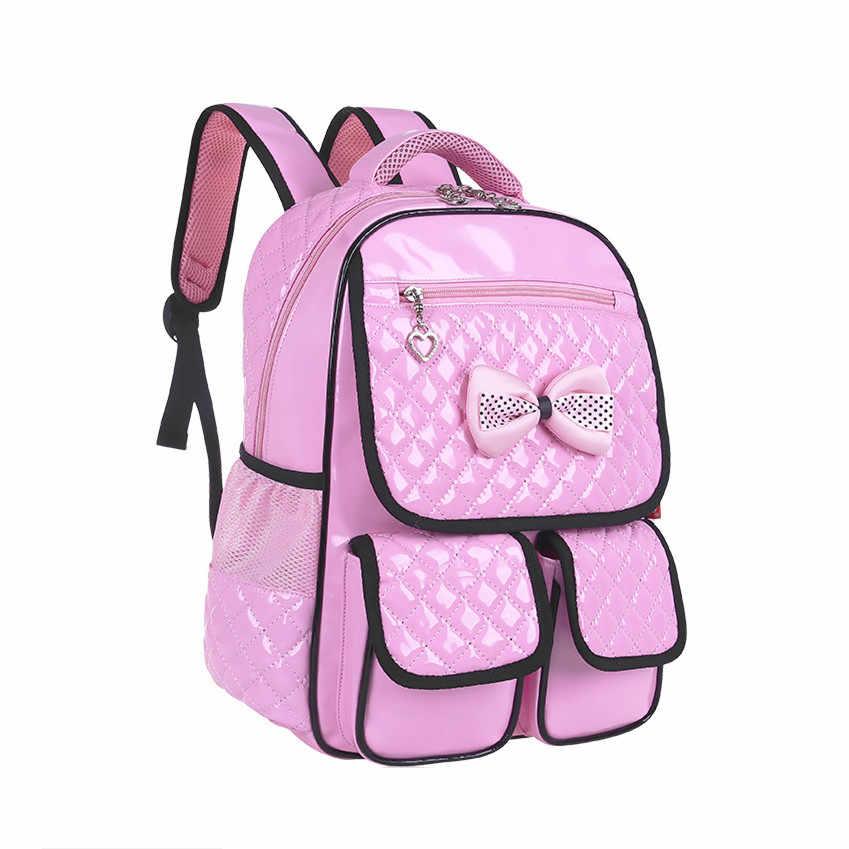6d415678bddd ... 2019 Новый pu кожаный розовый рюкзак для девочек школьные сумки Детские  рюкзаки для девочек-подростков ...