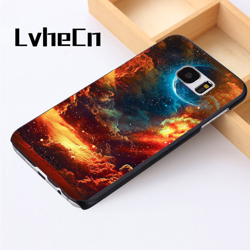 LvheCn phone case cover For Samsung Galaxy S3 S4 S5 mini S6 S7 S8 edge plus Note2 3 4 5 8 Increduble Psychedelic Desert Sky Art