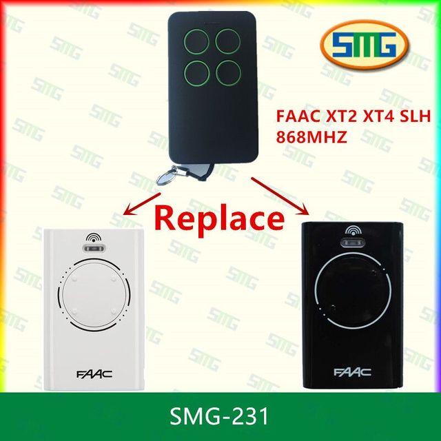 2x Faac Slhlr Xt2 Xt4 868mhz Replacement Garage Door Remote Control