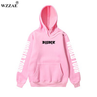 2017 Purpose Tour Sweatshirt Women Men Justin Bieber World Tour Man Hoodie Fashion Brand Cool Version