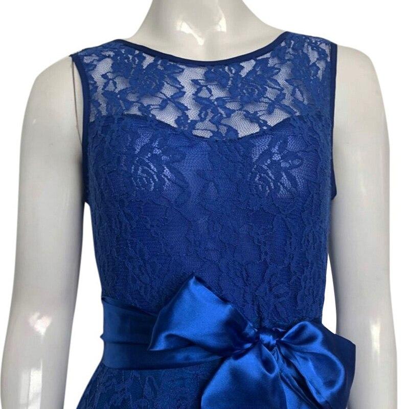 b29ef6f5548 ... 2019 Vintage Lace Maxi Dress Women Sleeveless High Low Belted Irregular  Swing A-Line Long ...