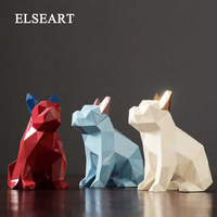 resin abstract French Bulldog dog figurines home decor crafts room decoration objects vintage ornament resin animal figurines