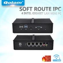 QOTOM Mini PC PFSense AES-NI with 4 Gigabit NIC, Core i3 i5 i7 Processor, Fanless Mini PC with Serial Port