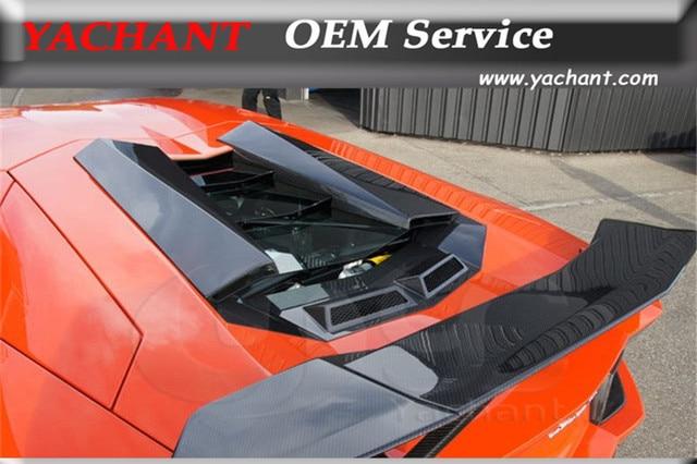Dry Carbon Fiber Fit For Aventador Lp700 Novitec Torado Style Engine