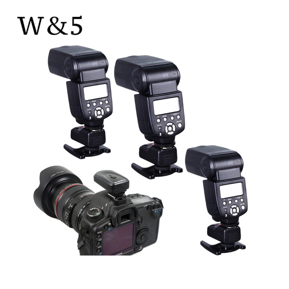 Wansen PT-04GY 4 Channels Wireless Remote Speedlite Flash Trigger +3 Receivers Universal for Canon Nikon Pentax Olympus wansen pt 04gy universal 1 to 3 3 receivers wireless flash trigger for nikon canon black