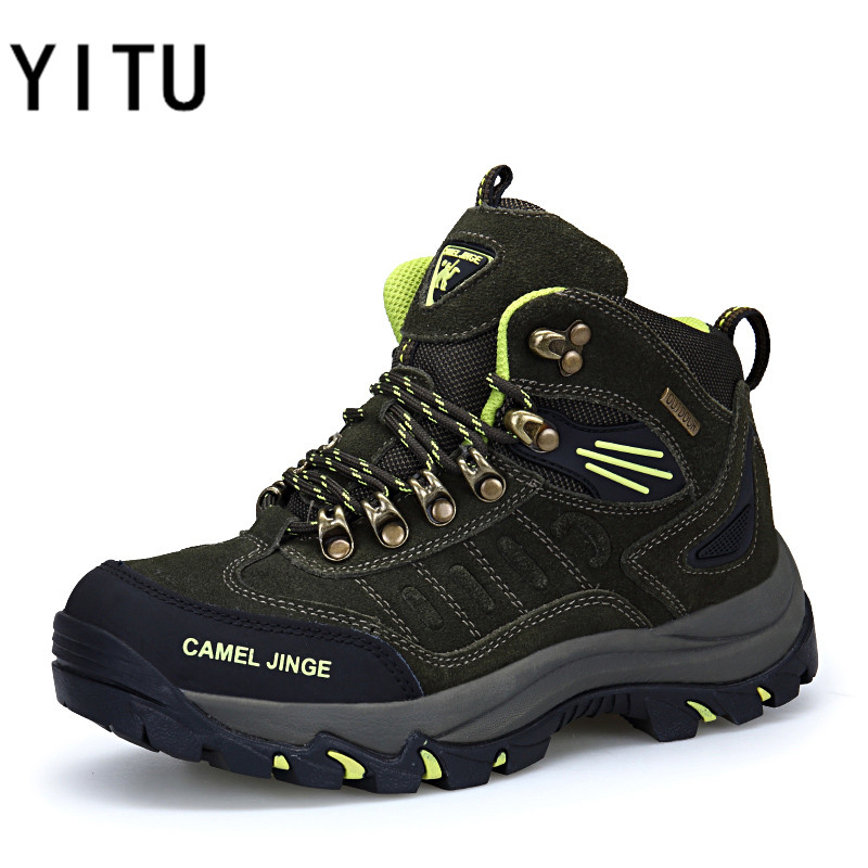 YITU Outdoor Sports Shoes For Women Hiking Shoes Trekking Shoes Mountain Climbing Winter Sneakers Women With Fur Warm Snow Boots носки горнолыжные мужские merinofusion winter sports all mountain brid