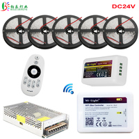 DC24V 5050 White Warm White LED Strip 25M 15M Flexible Tape Ribbon +Mi Light Remote WIFI Dimmer Controller Amplifier+ LED Power