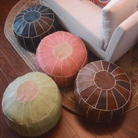 Reto style handmade Morocco pouf , Home decoration seat pillow cushion without core. removable cushion case