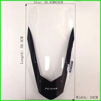 Modified Motorcycle Windshield scooter Steel solidification WindScreen Brown Wind Deflectors for Yamaha NMAX155 NMAX 125 nmax150