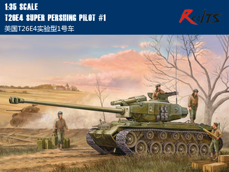 RealTS Hobby Boss 82426 1/35 T26E4 Super Pershing Pilot #1 plastic model kit hobbyboss trumpeter realts trumpeter 1 72 01620 tu160 blackjack bomber model kit