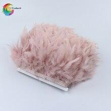 2 ярдов окрашенная кожа розовый индейка перо бахрома отделка 4-6 дюймов Chandelle Marabou отделка из перьев юбка платье отделка