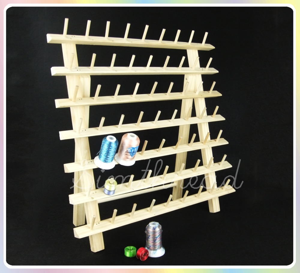 NEW ARRIVAL Simthread wooden Thread rack for 63 mini king spools threads thread stands