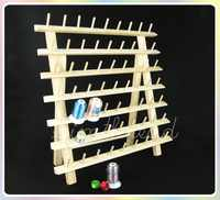 NEW ARRIVAL Simthread wooden Thread rack for 63 mini-king spools threads, thread stands