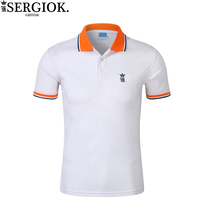 Sergio k Camisa Solid Polo Shirt Men Short Sleeve Slim Embroidery Mens Polo Shirts Brand Casual Breathable Summer New Polo Shirt