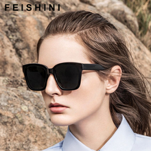 FEISHINI High Quality Photochro Eye Glasses Men Night Vision Vintage Plastic Titanium Frame Square Sunglasses Women Polarized