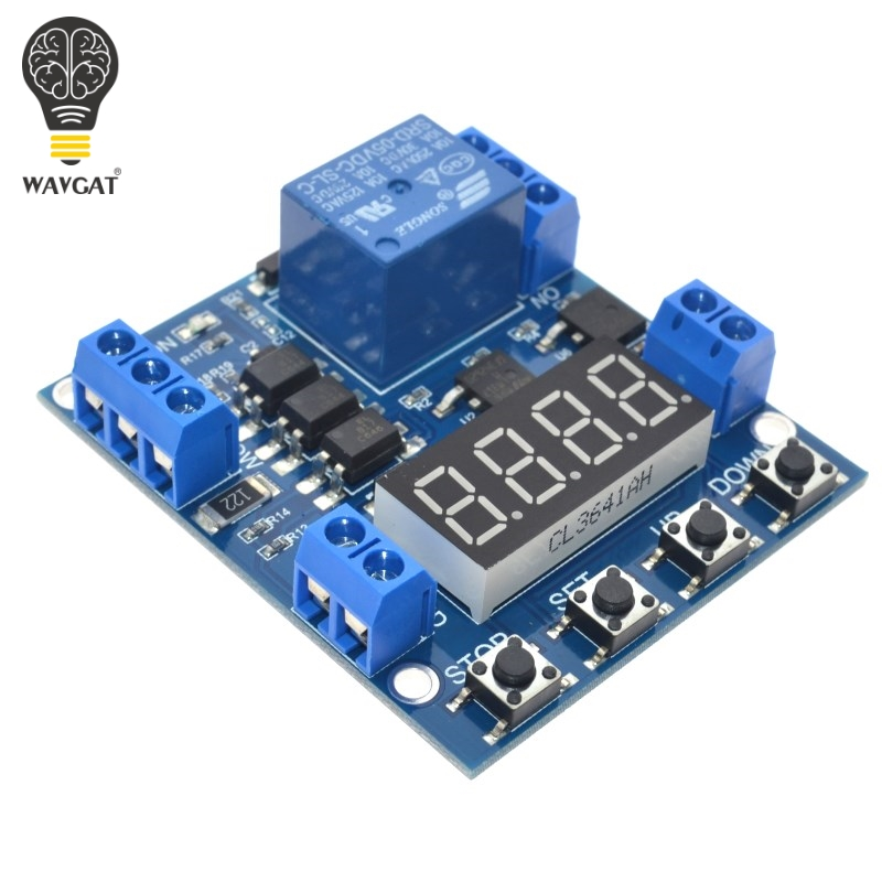 5V LED Display Digital Delay Timer Relay Control Switch Module Voltage Upper and Lower Limit Detection Cycle Timing Counting