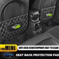 Auto Seat Anti Dirty Pad Baffle Mat Carbon Fiber Veins Stickers for Mini Cooper One S F54 F55 F56 F57 F60 R54 R55 R56 R57 R60