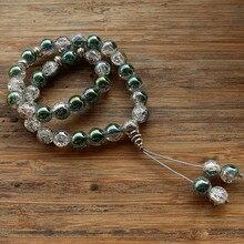 New 10 mét Glass Bead 33 Hạt Cầu Nguyện Hồi Giáo Hồi Giáo Tasbih Allah Mohammed Mân Côi cho phụ nữ đàn ông