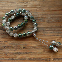 New 10mm Glass Bead 33 Prayer Beads Islamic Muslim Tasbih Allah Mohammed Rosary for women men