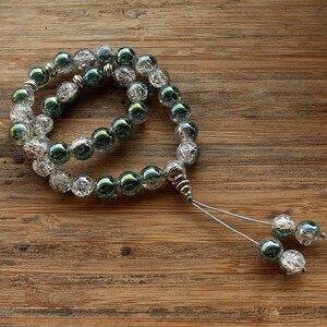 Image 1 - New 10mm Glass Bead 33 Prayer Beads Islamic Muslim Tasbih Allah Mohammed Rosary for women men
