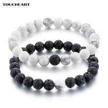 Toucheart натуральные черные белые женский браслет с подвесками