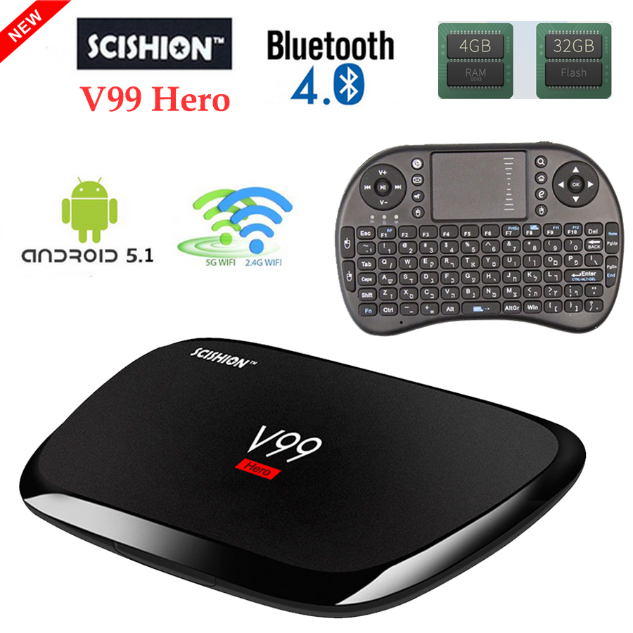 Android Tv Box 4GB Ram 32GB Rom Android5.1 Smart TV Box RK3368 Octa Core Mali-T6X TV Box Dual Band Wifi set top box media player дюбель фасадный с прямым крюком 10х100 sxr wh k fischer 2 шт