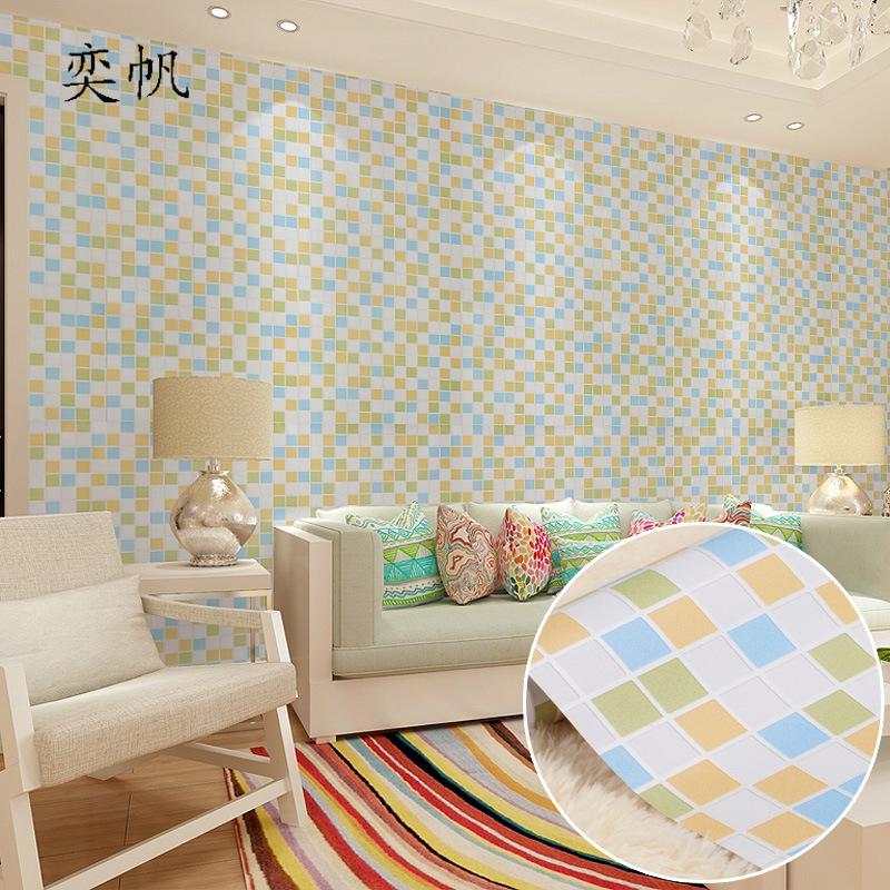 moderno mosaico papel pintado para paredes de dormitorios bao impermeable mural de papel rollos de papel