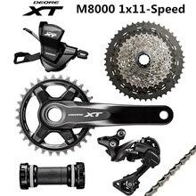 SHIMANO DEORE XT M8000 Groupset 32T 34T 165 170 175 הר Crankset אופני Groupset 1x11 Speed 40T 42T 46T M8000 אחורי הילוכים