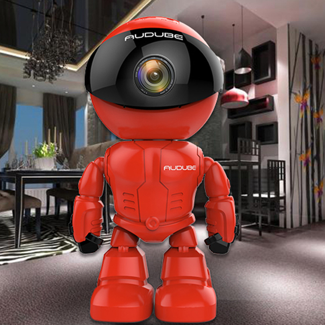 Wireless Red Robot WIFI Camera IP P2P CCTV Cam Baby Monitor Surveillance HD H.264 130MP Lens IR for Android or ios Ipad