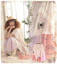 Japanese Sweet Lolita Mori Girl Cotton Skirt