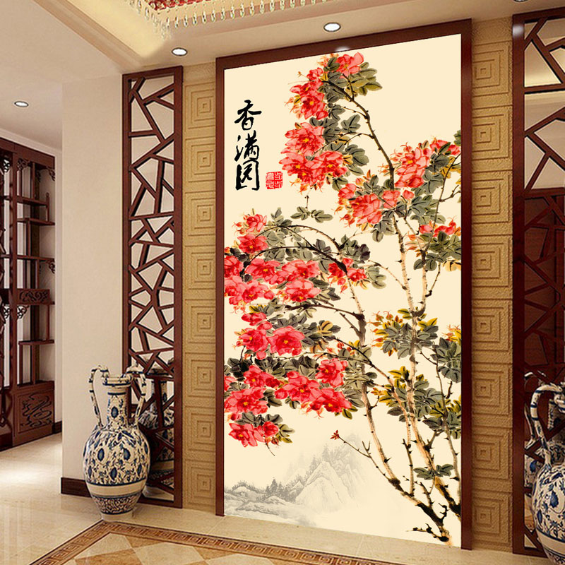 Buy vintage wall mural custom 3d for Chinese mural wallpaper
