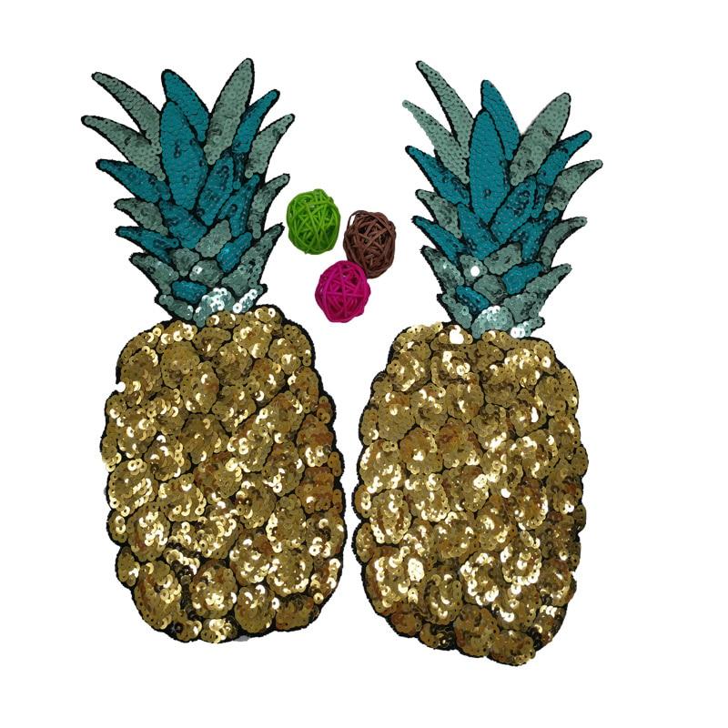 2 teile / los pailletten patch Gestickte Patch große ananas patches - Kunst, Handwerk und Nähen - Foto 1
