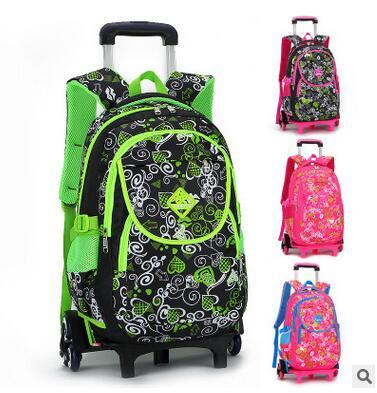 fe700247bcf9 kid School Rolling backpack Children Travel bags Trolley School backpack  for boys wheeled backpack kids Trolley bag On wheels. 1 order