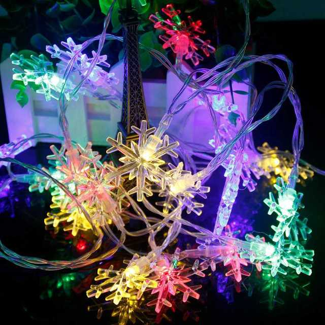Colorful Snowflake string lights 5c64f7bc00c6d