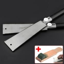 """9 1/2 """"podwójne krawędzi Razor japoński ciągnąć piła Ryoba styl 14/9 zęby narzędzia ręczne szczupła czop do obróbki drewna precyzyjne zobaczył z ścierne w Piła od Narzędzia na"""